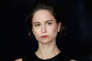 Katherine Waterston attends the U.K. film premiere of Steve Jobs held at Empire Cinema, Leicester Square, London on October 18, 2015.