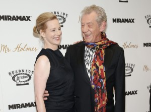 Laura Linney and Sir Ian McKellen attend the New York film premiere of Mr. Holmes held at the Museum of Modern Art, NYC on July 13, 2015.