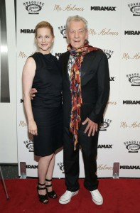 Laura Linney and Ian McKellen attend the New York film premiere of Mr. Holmes held at the Museum of Modern Art, NYC on July 13, 2015.
