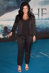 X Factor finalist Lauren Murray attends the European premiere of In the Heart of the Sea held at Empire Cinema, Leicester Square, London on December 2, 2015.