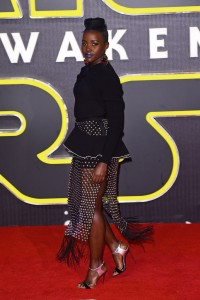 Lupita Nyong'o attends the UK film premiere of Star Wars: The Force Awakens held at Odeon and Empire Cinemas, Leicester Square London. (December 14, 2015)
