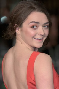 Maisie Williams attends the world premiere of Ed Sheeran's Jumpers for Goalposts concert movie which was filmed live at wembley stadium. The premiere took place at Odeon cinema, Leicester Square on October 22, 2015.