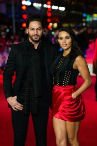 TOWIE's Mario Falcone and Louise Hazel attends the U.K. film premiere of Daddy's Home held at Vue West End, Leicester Square, London on December 9, 2015.