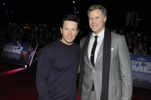 Mark Wahlberg and Will Ferrell attend the Dublin film premiere of Daddy's Home held at Savoy Cinema, Ireland on December 7, 2015.