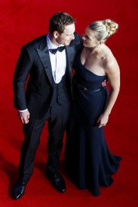 Michael Fassbender and Kate Winslet attends the U.K. film premiere of Steve Jobs held at Empire Cinema, Leicester Square, London on October 18, 2015.
