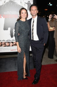 Nadia Conners and Walton Goggins attend the Los Angeles film premiere of The Hateful Eight held at ArcLight Cinemas, Sunset Blvd on December 7, 2015.