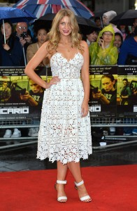 Olivia Newman-Young attends the U.K. film premiere of Sicario held at Empire Cinema, Leicester Square, London on September 21, 2015.