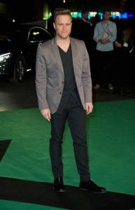 Olly Murs attends the world premiere of Ed Sheeran's Jumpers for Goalposts concert movie which was filmed live at wembley stadium. The premiere took place at Odeon cinema, Leicester Square on October 22, 2015.