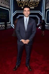 Oscar Isaac attends the World Premiere of Star Wars: The Force Awakens held at TCL Chinese Theatre, Hollywood Blvd, Los Angeles, CA on December 14, 2015.
