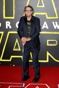 Peter Mayhew attends the UK film premiere of Star Wars: The Force Awakens held at Odeon and Empire Cinemas, Leicester Square London. (December 14, 2015)