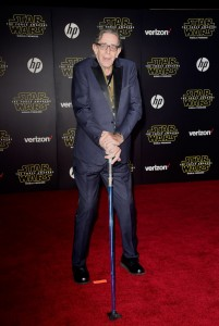 Peter Mayhew attends the World Premiere of Star Wars: The Force Awakens held at TCL Chinese Theatre, Hollywood Blvd, Los Angeles, CA on December 14, 2015.