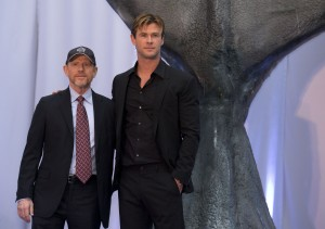 Ron Howard and Chris Hemsworth at the Mexico premiere of In the Heart of the Sea held at BestDay Cinema, Antara on November 23, 2015.