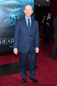 Director Ron Howard attends the New York film premiere of In the Heart of the Sea on December 7, 2015.