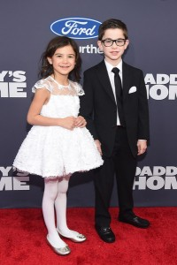 Scarlett Estevez and Owen Vaccaro attend the New York premiere of Daddy's Home on December 13, 2015.