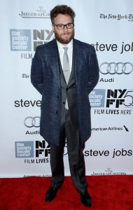 Seth Rogen attends the New York film premiere of Steve Jobs held at the Lincoln Center, NYC on October 3, 2015.