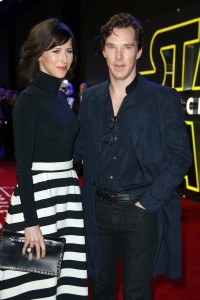 Benedict Cumberbatch and wife Sophie Hunter attend the UK film premiere of Star Wars: The Force Awakens held at Odeon and Empire Cinemas, Leicester Square London. (December 14, 2015)