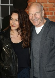 Suuny Ozell and Patrick Stewart at the U.K. film premiere of Mr. Holmes held at Odeon, Kensington, London on June 10, 2015.