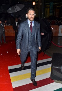 Tom Hardy attends the Canadian film premiere of Legend during 2015 Toronto International Film Festival on September 12, 2015.