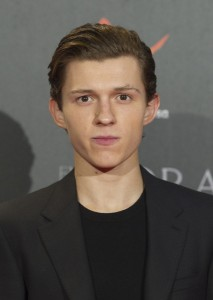 Tom Holland attends the Madrid film premiere of In the Heart of the Sea held at Callao Cinema, Spain on December 3, 2015.