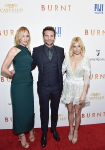 Uma Thurman, Bradley Cooper and Sienna Miller attend the New York film premiere of Burnt held at the Musuem of Modern Art, NYC on October 20, 2015.