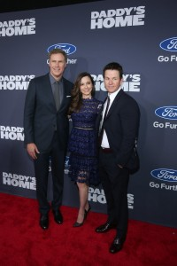 Will Ferrell, Linda Cardellini and Mark Wahlberg attend the New York premiere of Daddy's Home on December 13, 2015.
