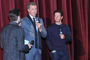 Will Ferrell and Mark Wahlberg at the Dublin film premiere of Daddy's Home held at Savoy Cinema, Ireland on December 7, 2015.