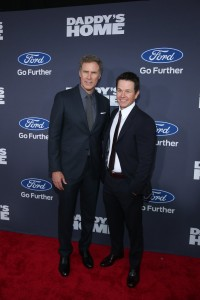 Co-stars Will Ferrell and Mark Wahlberg attend the New York premiere of Daddy's Home on December 13, 2015.