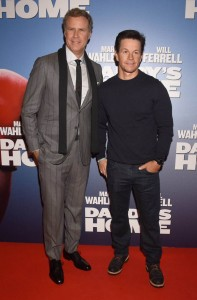 Will Ferrell and Mark Wahlberg attend the Dublin film premiere of Daddy's Home held at Savoy Cinema, Ireland on December 7, 2015.