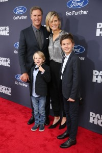 Will Ferrell, wife Viveca Paulin & sons attend the New York premiere of Daddy's Home on December 13, 2015.