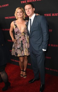 Zoe Bell and Channing Tatum attend the Los Angeles film premiere of The Hateful Eight held at ArcLight Cinemas, Sunset Blvd on December 7, 2015.