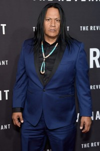 Arthur Redcloud attends The Revenant Premiere in New York held at AMC Leows Lincoln Square on January 6, 2016.