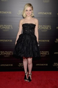 Bella Heathcote attends the Los Angeles premiere of Pride and Prejudice and Zombies held at Harmony Gold Theatre, Sunset Blvd on January 21, 2016.