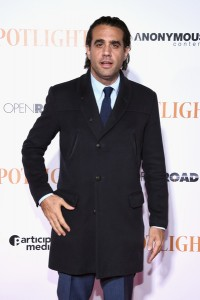 Bobby Cannavale attends the New York City premiere of Spotlight held at the Ziegfeld Theatre on October 27, 2015.