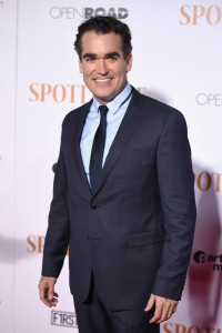 Brian d'Arcy James attends the New York City premiere of Spotlight held at the Ziegfeld Theatre on October 27, 2015.