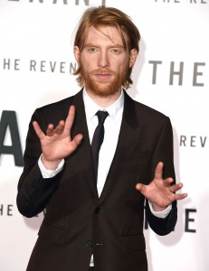 Domhnall Gleeson attends The Revenant Premiere in Los Angeles held at TCL Chinese Theatre, Hollywood Blvd on January 16, 2016.