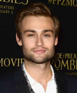 Douglas Booth attends the Los Angeles premiere of Pride and Prejudice and Zombies held at Harmony Gold Theatre, Sunset Blvd on January 21, 2016.