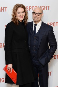 Stanley Tucci and Felicity Blunt attend the UK premiere of Spotlight held at Curzon Mayfair, London on January 20, 2016.
