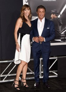 Jennifer Flavin stood by her husband Sylvester Stallone's side at the Los Angeles premiere of Creed held at Regency Village Theatre in Westwood, CA.