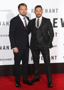 Co-stars Leonardo DiCaprio and Tom Hardy attend The Revenant Premiere in Los Angeles held at TCL Chinese Theatre, Hollywood Blvd on January 16, 2016.
