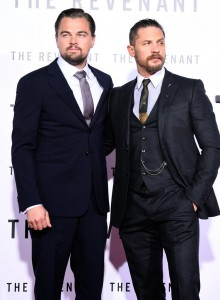 Co-stars Leonardo DiCaprio and Tom Hardy attends The Revenant Premiere in Los Angeles held at TCL Chinese Theatre, Hollywood Blvd on January 16, 2016.