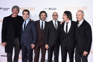 The cast of Spotlight attend the New York premiere held at Ziegefeld Theatre.