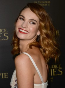 Lily James attends the Los Angeles premiere of Pride and Prejudice and Zombies held at Harmony Gold Theatre, Sunset Blvd on January 21, 2016.