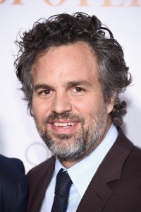 Mark Ruffalo attends the New York City premiere of Spotlight held at the Ziegfeld Theatre on October 27, 2015.