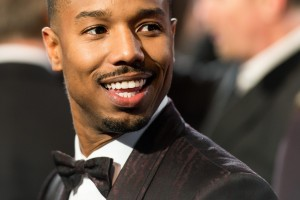 Michael B. Jordan attends the UK film premiere of Creed held at Empire Cinema, Leicester Square on January 12, 2016.