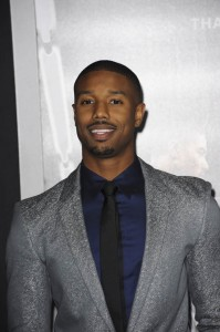 Michael B. Jordan attends the Creed premiere in Los Angeles held at Regency Village Theatre, Westwood, CA on November 19, 2016.