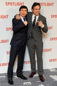 Mike Rezendes and Mark Ruffalo attend the UK premiere of Spotlight held at Curzon Mayfair, London on January 20, 2016.