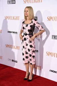 Naomi Watts attends the New York City premiere of Spotlight held at the Ziegfeld Theatre on October 27, 2015.