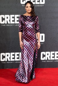 Tessa Thompson attends the UK film premiere of Creed held at Empire Cinema, Leicester Square on January 12, 2016.
