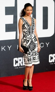 Thandie Newton attends the UK film premiere of Creed held at Empire Cinema, Leicester Square on January 12, 2016.
