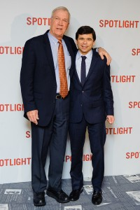 Walter Robinson & Mike Rezendes attend the UK premiere of Spotlight held at Curzon Mayfair, London on January 20, 2016.